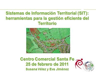 """Taller formativo sobre: """"Los Sistemas de Información Territorial apoyados en Sistemas de Información Geográfica como herramientas para la gestión eficiente del Territorio"""