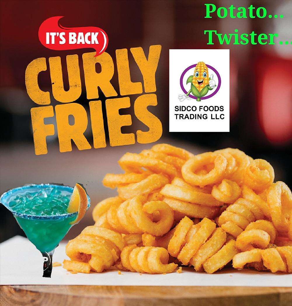 Potato twister Curly Fries supplier in Dubai , UAE - Sidco Foods Trading LLC (www.sidcofoodsllc.com)