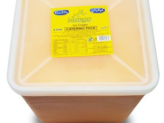 Mango Kwality Ice Cream | Sidco Foods I Mango | Strawberry | Vanilla | 4 litre Catering Pack