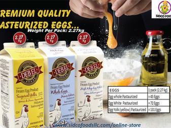 Frozen Pasteurized Liquid Egg - Egg  Yolk ,Whole Egg ,Egg White in DUBAI UAE Available Online-Sidco