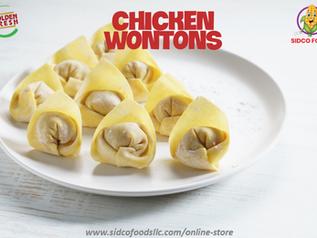 Chicken wontons Supplier in Dubai,UAE| Sidco Foods Trading LLC