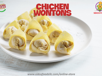 Chicken wontons Supplier in Dubai,UAE| Sidco Foods Trading LLC
