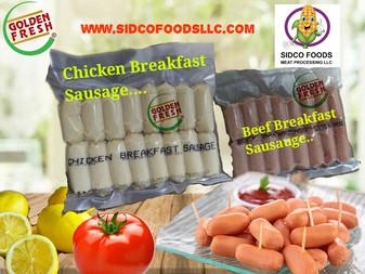 Chicken Breakfast Sausage , Beef Breakfast Sausage supplier in Dubai UAE , Sidco Foods Trading LLC ,