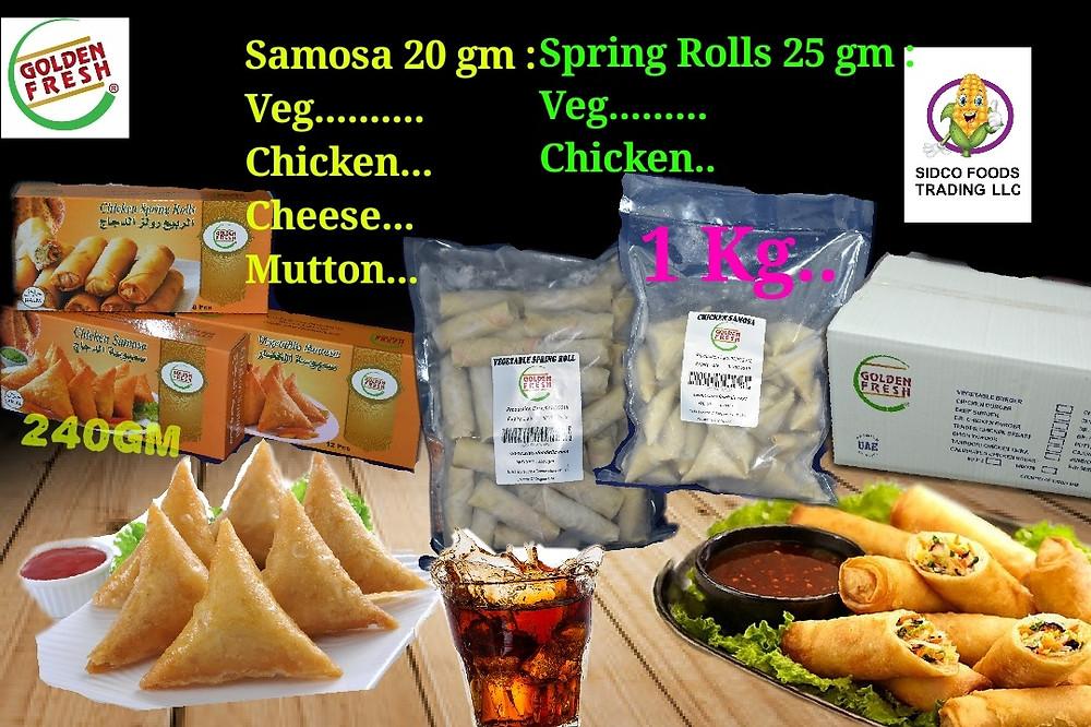Samosa & Spring Roll manufacturers in Dubai , UAE