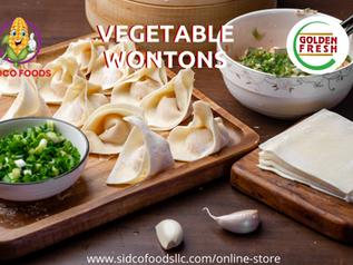 Vegetable Wontons Supplier in Dubai,UAE | Sidco Foods
