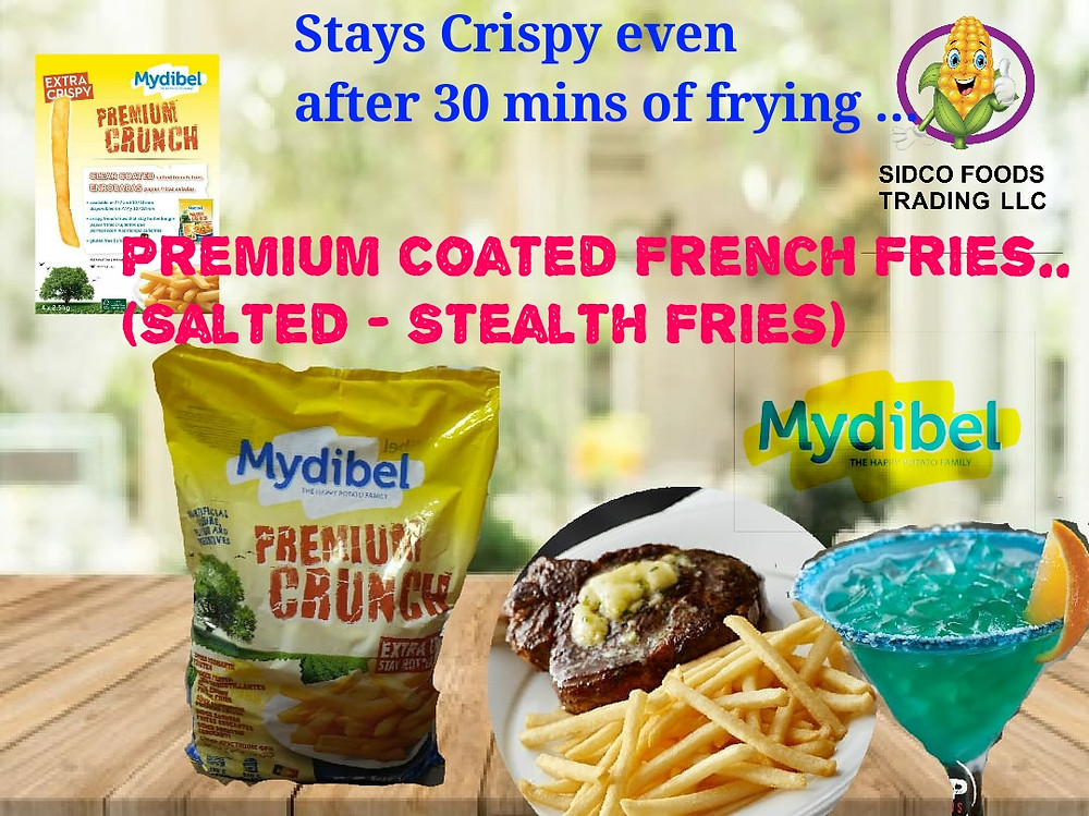 Crispy French Fries 6mm - 9mm Coated Stealth Salted supplier in Dubai UAE