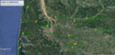 Situation géographique de nos 13 producteurs en Aquitaine