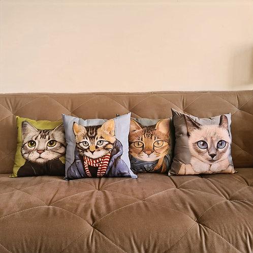 Almofadinhas Carinhas de Gato