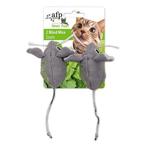 Dupla de ratinhos com 12g de catnip canadense