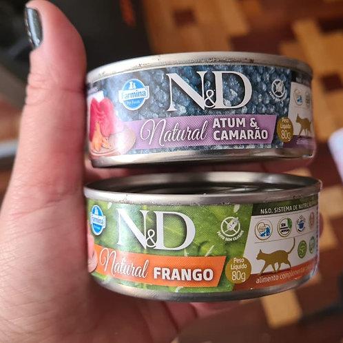 Atum, Frango, Atum & Frango, Atum & Camarão, Atum & Salmão