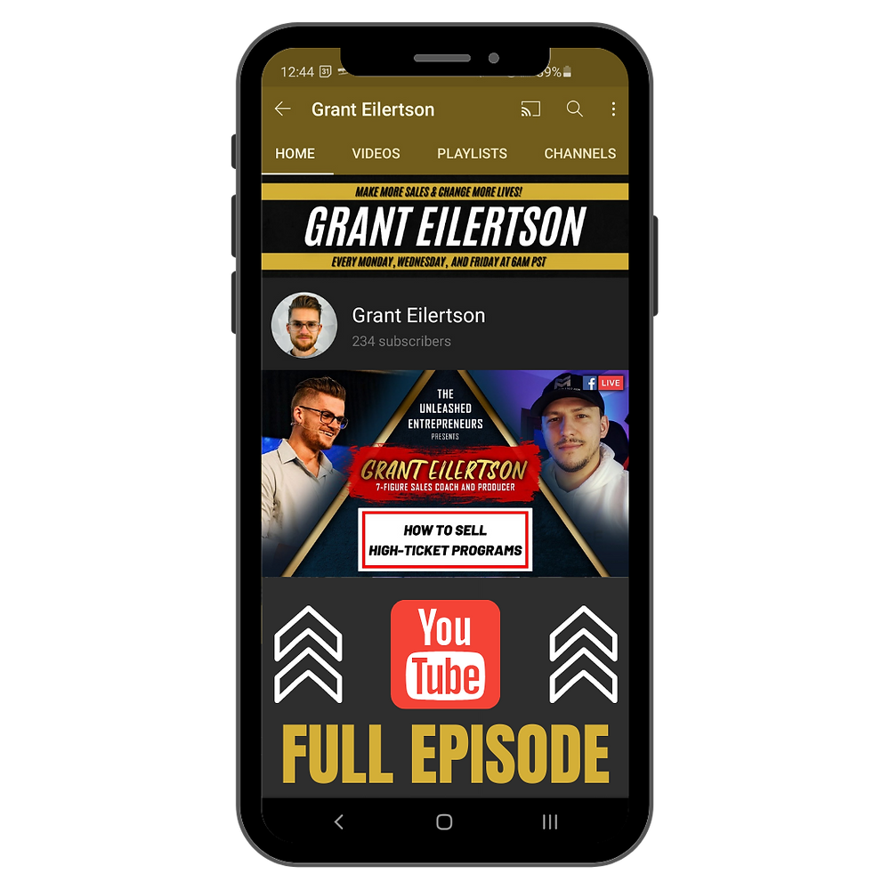 Make More Sales - Grant Eilertson YouTube Channel