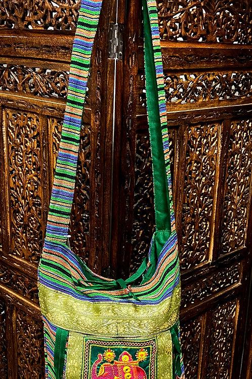 Green Elephant Crossbody Bag