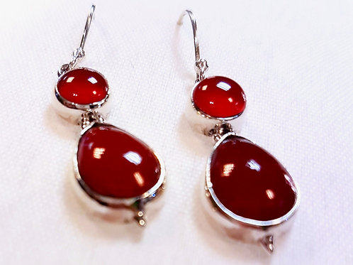 Red Onyx Earrings