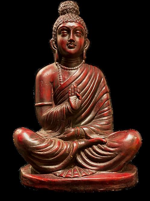 Maroon Protection Buddha