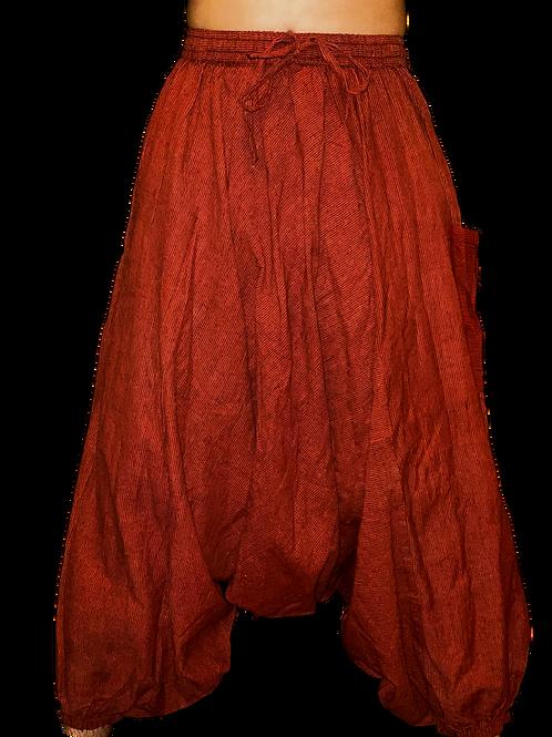 Red Black Striped Harem Pants