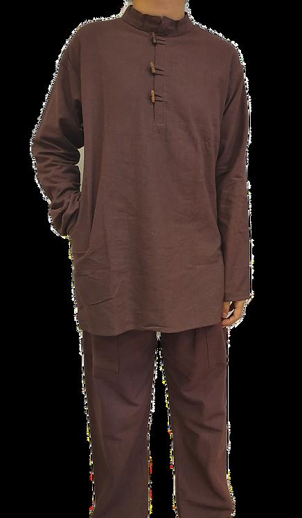 Brown Cotton Linen Comfy Pants