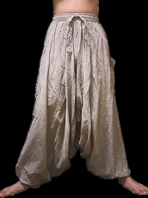 White & Black Striped Harem Pants