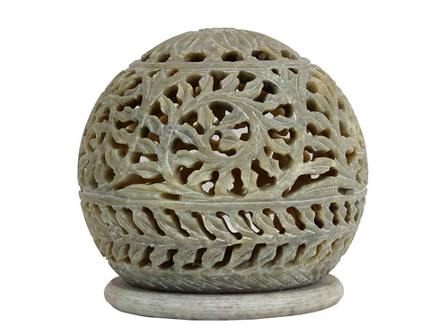 Stone Tea Light Candle Holder