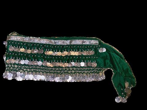 Green & Silver Belly Dance Belt