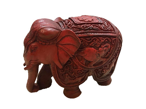 Red Carved Elephant
