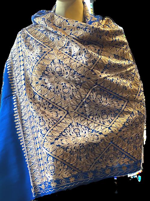 Blue Kashmir Pashmina