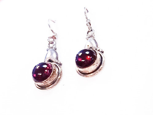 Garnet Stone Earrings
