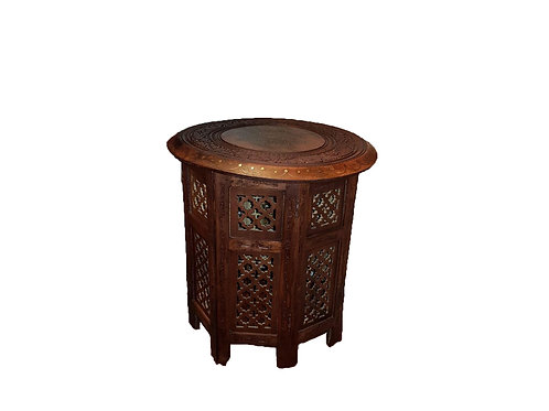 Hand Carved Side Table