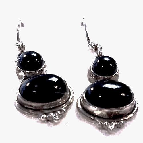 Black Onyx Stone Earrings