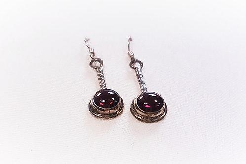 Garnet Stone Earrings