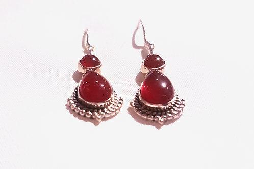 Red Onyx Stone Earrings