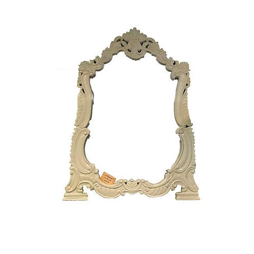 White Wood King Mirror