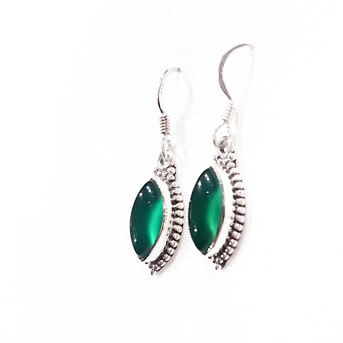 Green Onyx Stone Earrings