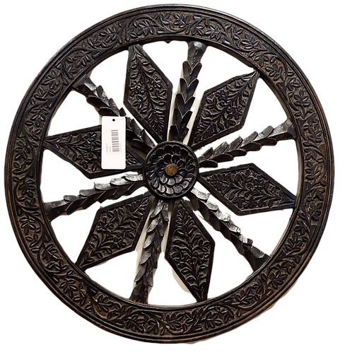Carved wall wheel