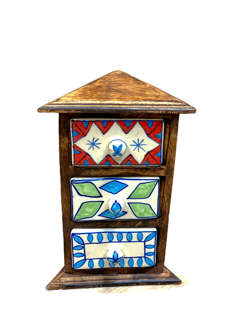 Triangle Spices/Jewellery Box