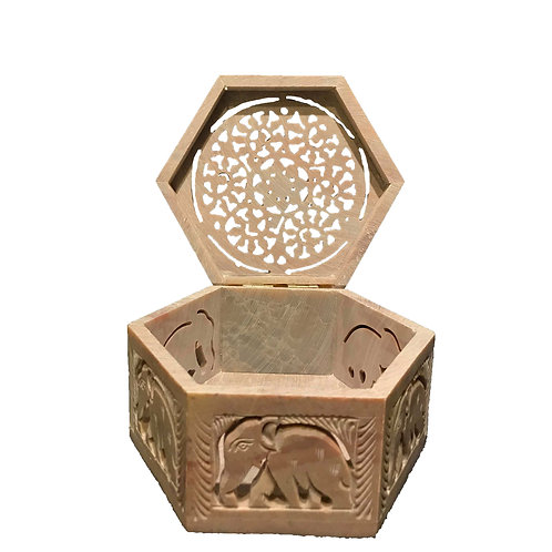 Stone Carved Box