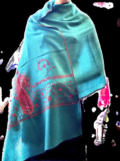 Basic Turquoise Pashmina