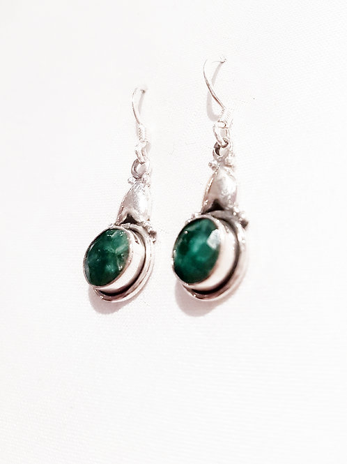 Emerald Stone Earrings