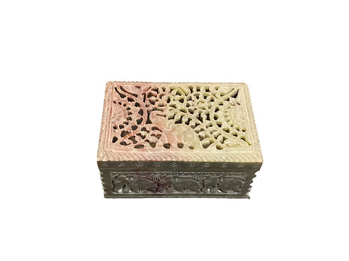 Stone Carved Jewellery Box