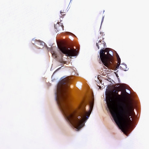 Tiger's eye Stone Earrings