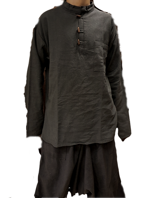 Comfy Black Cotton Linen Kurta