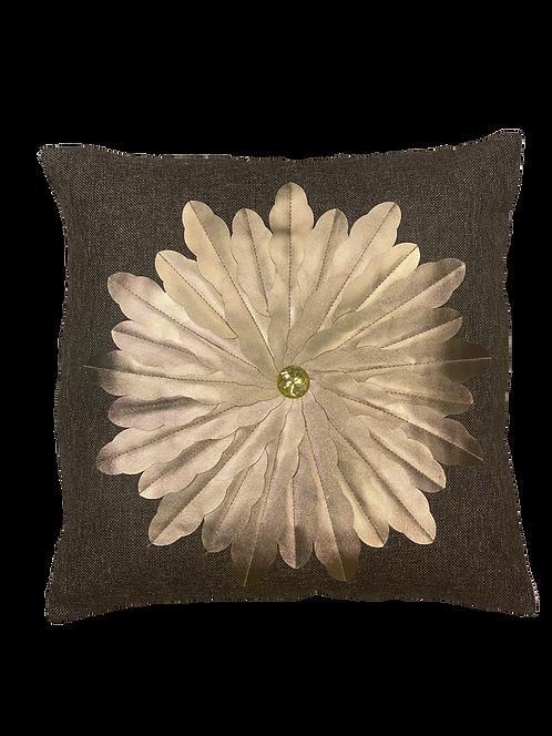 Golden Flower Pillow Cover