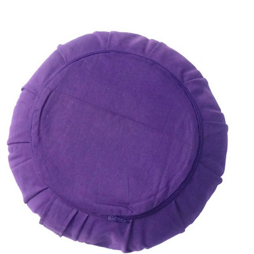 Meditation Pillow - Round - Cushion - Organic Buckwheat Hulls Filling