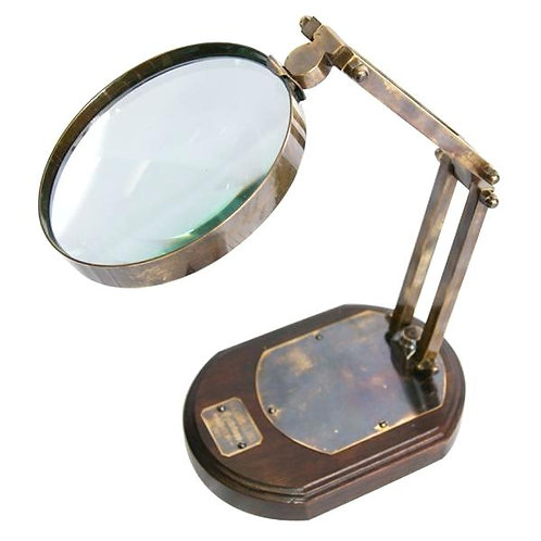 Brass stand magnifying glass