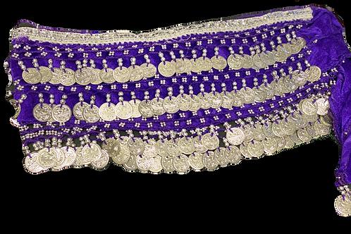 Purple Satin Belly Dance Belt