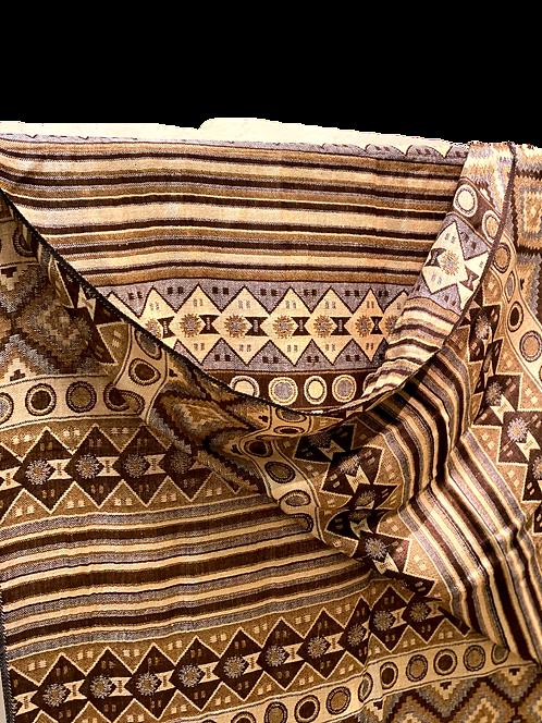 Brown Pattern Viscus Scarf