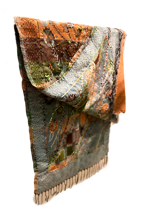 Earthy Double-Sided Wool Scarf
