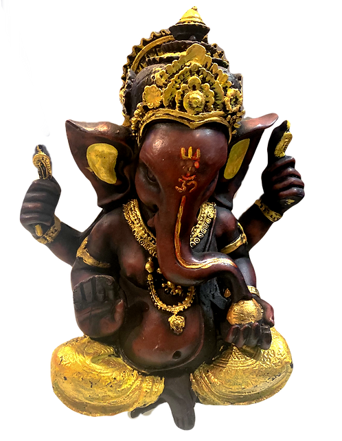 Gold Color Painted Ganesha