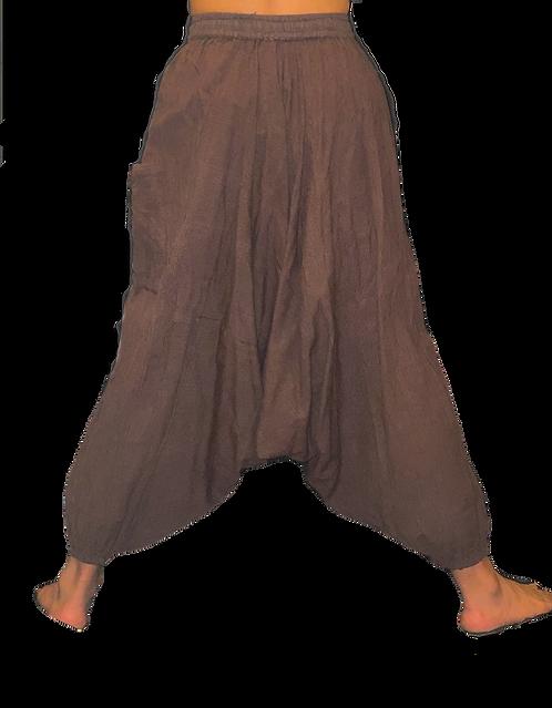 Brown Black Striped Harem Pants