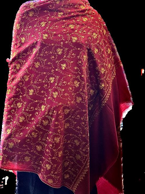 Burgundy Kashmir Pashmina