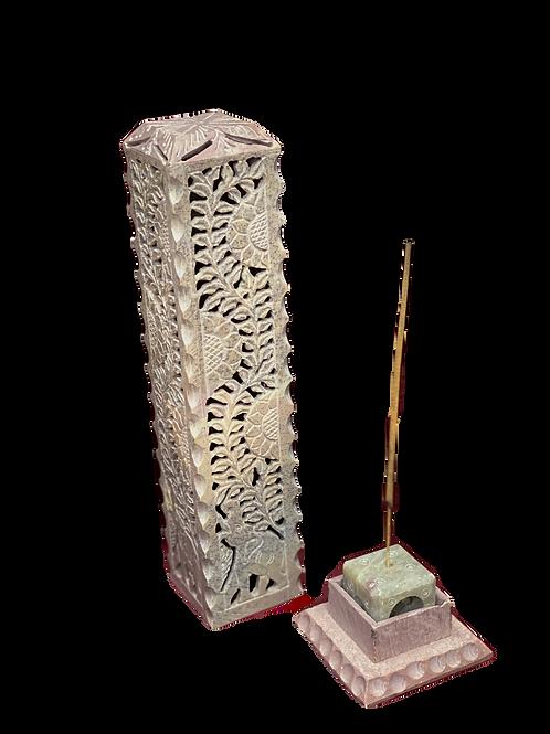 Multi-Purpose Stone Incense Stand